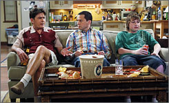 Two and a Half Men has completed 18 of their 23-episode season order and CBS estimates they have enough new episodes to last until mid-April. Whether they finish the last five depends on when Charlie Sheen returns to the set.