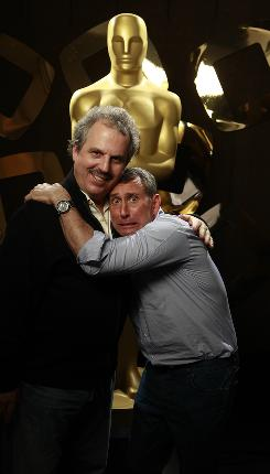 Bill Mechanic, left, is Mr. By-the-Book. Adam Shankman is just WILD!!! Together, they're Oscar producers.
