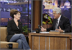 Night 2 of Jay Leno's return showed a bit more life, thanks to Sarah Palin, who tried a little standup comedy.