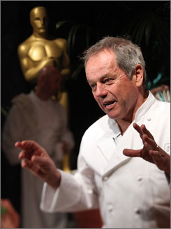 This year, Chef Wolfgang Puck plans to serve truffled chicken pot pie as an entree.