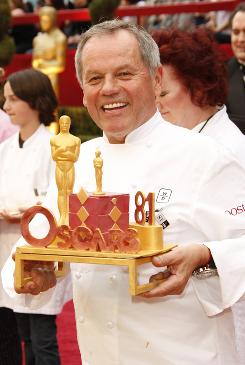 Wolfgang Puck is known for his chocolate mini Oscar statuettes, dusted in 24K gold. Because that is also outside most people's party budget, he suggests baking cookies in Oscar shapes, using a printed-out silhouette of the trophy. The treats can either be decorated beforehand or by the guests themselves.