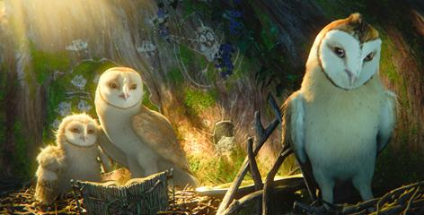 Owls of wonder: Eglantine, left, voiced by Emilie de Ravin; Soren, voiced by Jim Sturgess; and Kludd, voiced by Ryan Kwanten.