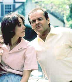 Debra Winger and Jack Nicholson in Terms of Endearment, which won him his second of three Oscars.