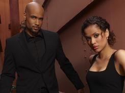 Boris Kodjoe as Steven Bloom, with Gugu Mbatha-Raw as Samantha Bloom, in Undercovers, a drama from Lost's J.J. Abrams.