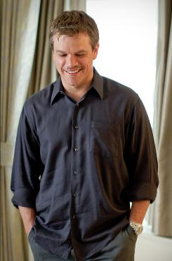 Working hard: Matt Damon, who grew a mustache for an upcoming shoot, plays a clean-shaven chief warrant officer looking for weapons of mass destruction in The Green Zone, in theaters Friday.