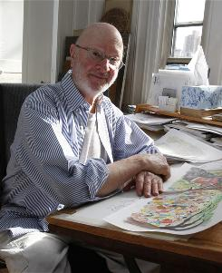 Fine line: Jules Feiffer, who won a Pulitzer for his edgy cartoons, now illustrates children's books.