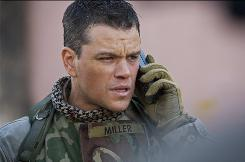 Matt Damon plays a fictional warrant officer trying to track down weapons of mass destruction in the Paul Greengrass-directed film.