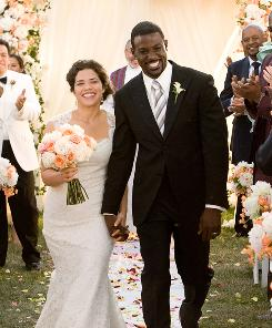 Multicultural: America Ferrera and Lance Gross must deal with their racist families before heading down the aisle.