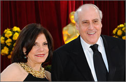 Outgoing MPAA chief Dan Glickman and wife Rhoda work the Oscar red carpet one last time.