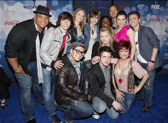 The top 12 finalists for Season 9 defy the stereotypes. Back row, left: Michael Lynche, Tim Urban, Didi Benami, Siobhan Magnus, Paige Miles, Casey James, Katie Stevens, Aaron Kelly. Front row, left, Andrew Garcia, Lee DeWyze, Crystal Bowersox and Lacey Brown.