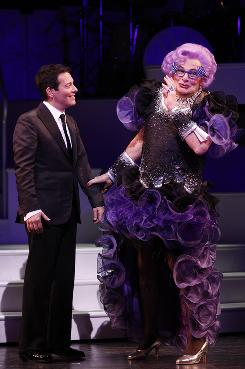 Who's the star? Michael Feinstein and Dame Edna (aka Barry Humphries) fight for it while singing, dancing and making fun of people.