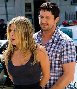 Jennifer Aniston and Gerard Butler share little chemistry in The Bounty Hunter.