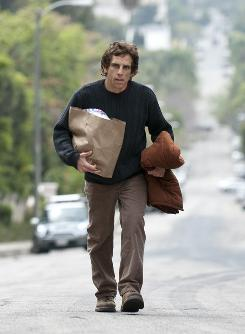Not his usual role: Ben Stiller is neurotic Roger, who is house-sitting for his brother in L.A.