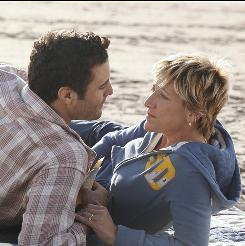Edie Falco stars as NYC emergency room nurse Jackie Peyton. Dominic Fumusa is her husband, Kevin, owner of a neighborhood bar.