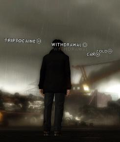 What's on your mind? FBI agent Norman Jayden is one of the game's characters. The words are his thoughts.