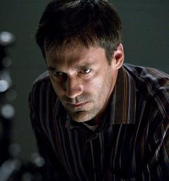 Detective Tom Adkins (Jon Hamm) searches for his missing son, but finds a dead child in a box at a construction site.