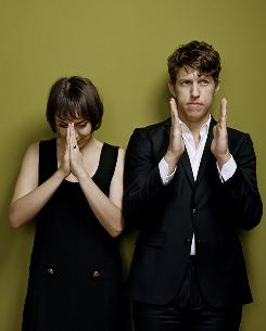 Not making dreams come true: Inara George, left, and Greg Kurstin of The Bird and the Bee.