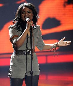 American Idol: Contestant Paige Miles performs.