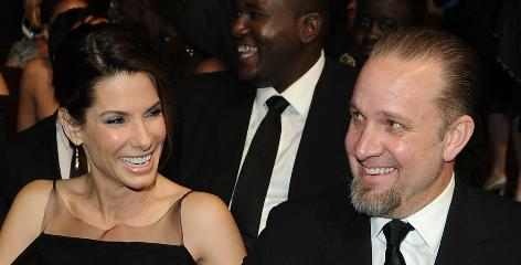 Broken hearts club: Sandra Bullock and Jesse James, before the bombshell.