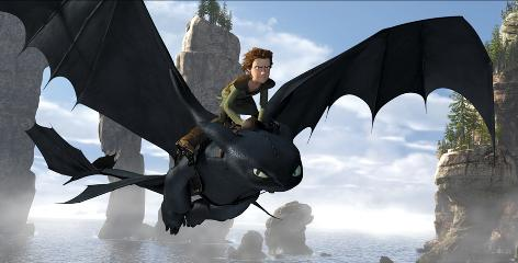 Hiccup (Jay Baruchel) befriends Toothless, a rare, injured Night Fury dragon, in How to Train Your Dragon, a 3-D film arriving in theaters Friday.