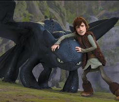 The rarest dragon of them all: Hiccup befriends Toothless, an injured Night Fury.