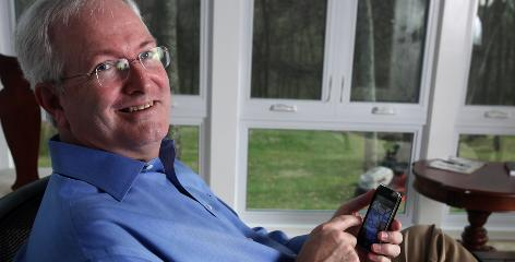 "Dan Wright of Gallatin, Tenn., says the apps on his iPhone have led him to think that the new iPad could free him from his desk for good. ""My mobile device doesn?t boot up, it just comes on,"" the publishing consultant says. ""I love that."""