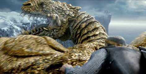It's poetry in motion-capture as the Viking warrior Beowulf (Ray Winstone) goes up against the gargantuan, golden-scaled dragon.