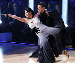 Shannen Doherty and Mark Ballas were the first team eliminated on Dancing With the Stars.