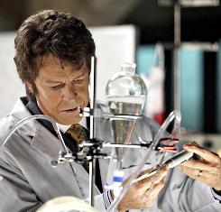 Character history: Walter (John Noble) flashes back to 1985, when he invented a machine that was a window into an alternate universe.