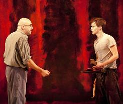 Colorful: Alfred Molina, left, is Mark Rothko and Eddie Redmayne plays his employee, Ken, in a new drama now playing on Broadway.