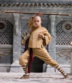 Elements of power: Noah Ringer plays an Airbender who must take down an evil Firebender to end war in The Last Airbender, which is based on animated Nickelodeon series.