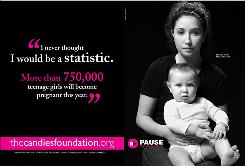 Bristol Palin appears with her son Tripp in the PSA campaign for National Teen Pregnancy Prevention Month.