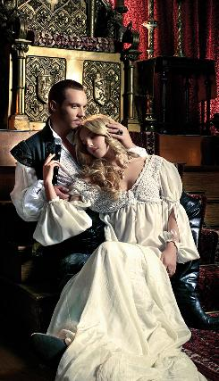I'm Henry VIII: Jonathan Rhys Meyers and Annabelle Wallis, who played Jane Seymour, one of Henry's many wives, in Showtime's The Tudors, which returns on Sunday.