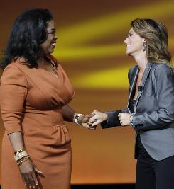 Oprah Winfrey is joined by Shania Twain for the announcement of new original programming on the OWN network. Twain is getting a reality series.