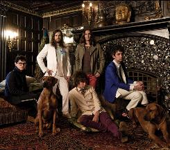 Gone to the dogs: MGMT's Ben Goldwasser, clockwise from left, James Richardson, Will Berman, Matt Asti and Andrew VanWyngarden have created a less mainstream album.
