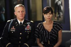 Denise (Catherine Bell) put her life on hold when she married Col. Frank Sherwood (Terry Serpico). 