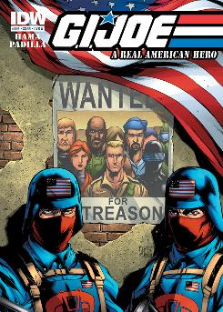 The cover of G.I. Joe: A Real American Hero No. 156, written by Larry Hama and drawn by Agustin Padilla.