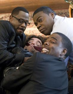 Laughs and Death: Martin Lawrence, left, Peter Dinklage, Tracy Morgan and Chris Rock.