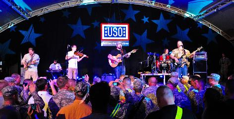 The Zac Brown Band takes the stage at Camp Buehring in Kuwait.