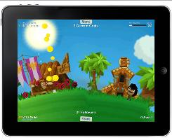 GodFinger allows iPad users to build a farm and check in on other users' worlds.