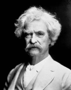 Mark Twain died on April 21, 1910. He was 74.