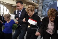 Bruce Springsteen was honored at the Ellis Island Family Heritage Awards on Thursday in New York with his aunt Dora Kirby, 90, left, mother Adele Springsteen, 85, and aunt Ida Urbelis, 87.