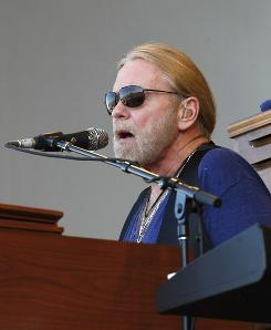 Greg Allman performs with the Allman Brothers band at the New Orleans Jazz and Heritage Festival on Sunday.