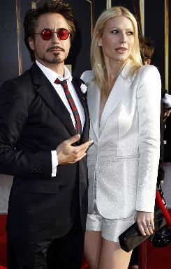 Robert Downey Jr. and Gwyneth Paltrow hit the red carpet at the premiere of Iron Man 2.
