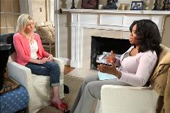 Oprah Winfrey interviews Rielle Hunter at Hunter's home in Charlotte, North Carolina. Hunter talks about John Edwards, Andrew Young and her baby during the interview which airs Thursday.