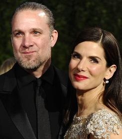Oscar winner Sandra Bullock and husband Jesse James arrive at the Vanity Fair party in March.