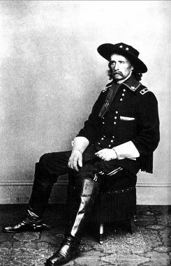 George Armstrong Custer, who had 11 horses shot out from underneath him, knew he cut a striking figure.