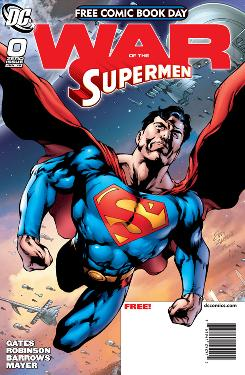 Cover to 'War of the Supermen' issue #0 available from DC Comics on Free Comic Book Day