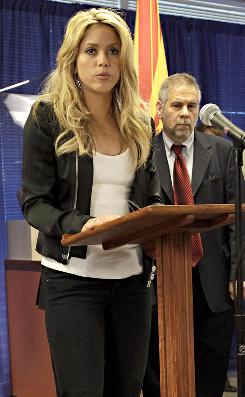 """I am in opposition to this law because it is in violation of human and civil rights,"" Colombian pop singer Shakira said Thursday in Phoenix. ""It goes against all human dignity."""