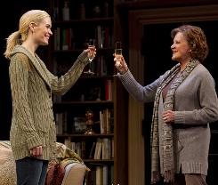 Cheers to good debate: Student Lisa (Sarah Paulson, left) and teacher Ruth (Linda Lavin) clash in Collected Stories.